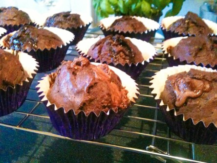 Exploding Chocolate cupcakes