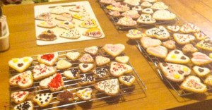 Valentines Day Heart Biscuits